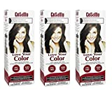 CoSaMo - Love Your Color Non-Permanent Hair Color 777 Medium Ash Brown - 3 Oz (Pack of 3) + FREE Travel Toothbrush, Color May Vary