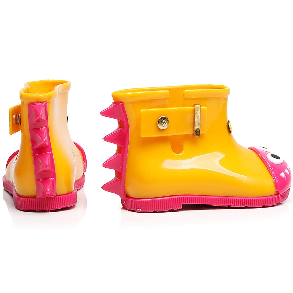 Boy Girl Wellies Rubber Rain Boots Kids Wellington Water Shoes Yellow Blue Pink