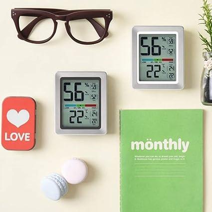 NovaLiving Indoor Digital Hygrometer Temperature and Humidity Monitor ML0758 Black