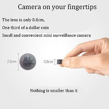 LFHKN Micro inalámbrico de cámaras móvil Remoto Mini cámara casera HD Noche visión WiFi Network Monitor pequeño-taobao: Amazon.es: Jardín