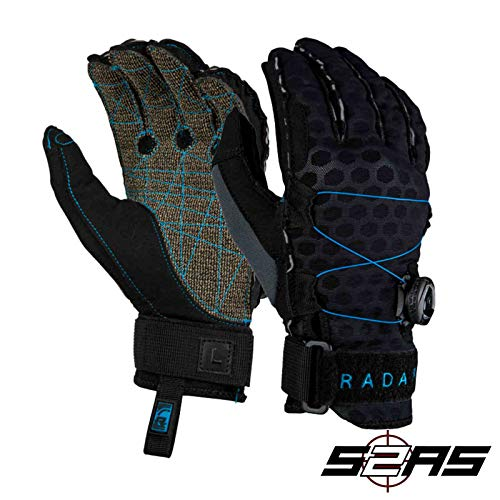 (Radar Vapor K - BOA - Inside-Out Glove - Black/Blue Ariaprene - M)