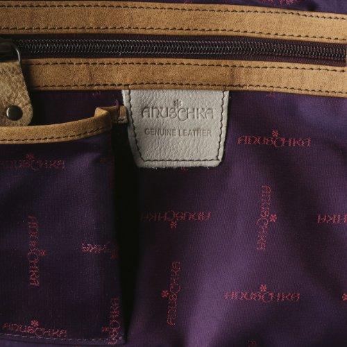 Leather Anuschka Floral Shoulder Women's Genuine Bag Henna nFqA8pBxF