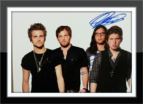 Framed Kings Of Leon Photograph Authentic Autograph with Certificate of Authenticity