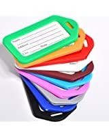 ANBANA ® 10 pcs Assorted Colors Plastic Travel Accessories Square-shape Luggage tag / Identifier with Name Card