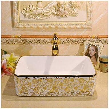 樹脂洗面台天然石の楕円形埋め込み式カウンター洗面台シンク、バスルーム豪華な洗面台セラミック長方形容器シンク(サイズ:19x15x6inch)