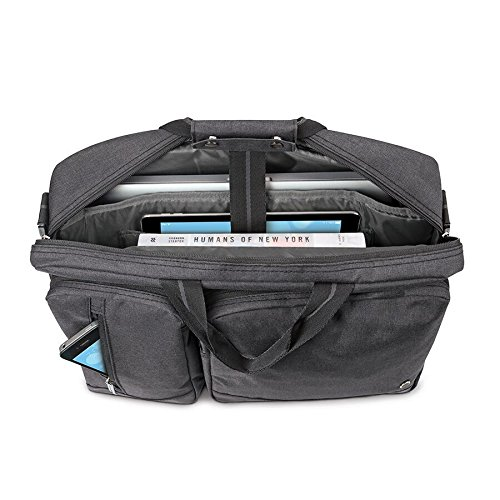 Solo Duane 15.6 Inch Laptop Hybrid Briefcase, Converts to Backpack, Grey by SOLO (Image #10)