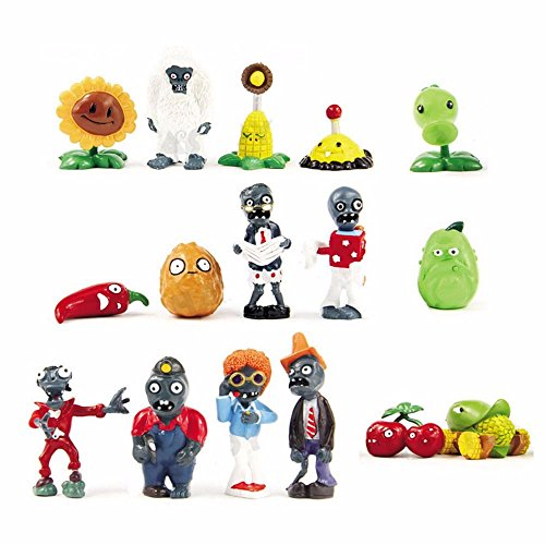 16 X Plants Vs Zombies Toys Series Games Different Roles Of Figure Toy Pvc Doll