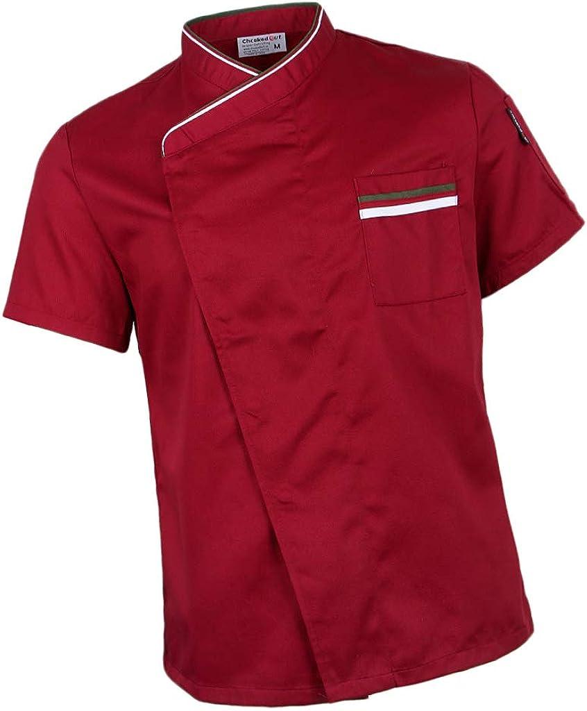 dailymall Chef Giacca Uniforme Manica Corta Hotel Cucina Chefwear Cuoco Cappotto