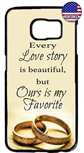 Cute Gift Wedding Bride Groom Wife Love Quote Rubber Silicon Black Case Cover Samsung Galaxy S7 Edge