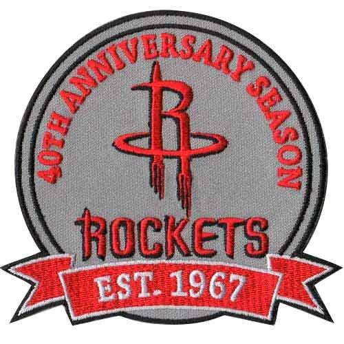 Houston Rockets 40th Anniversary Logo Patch (Houston Rockets Team Logo Patch)