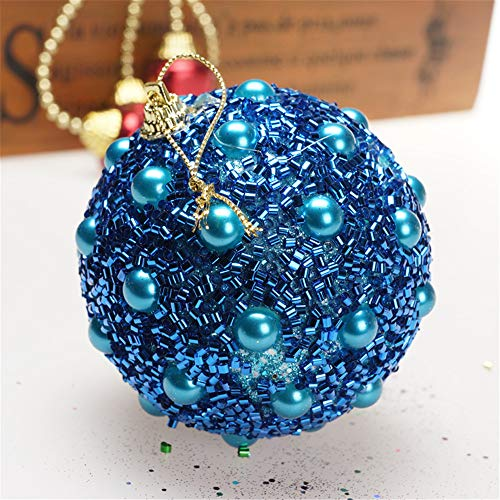 Christmas Tree Decoration Christmas Ball Ornaments Decoration Tree Balls for Holiday Wedding Party Decoration (8cm in Diameter) Rhinestone Glitter Baubles Balls Xmas Tree Ornament Decoration (Blue) by TLT Retail (Image #2)