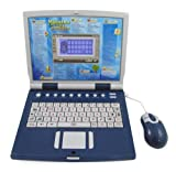 Advanced Bilingual Learning Laptop for Kids with Full Color Screen and Mouse + Learn English / Spanish + Educational Games for Children