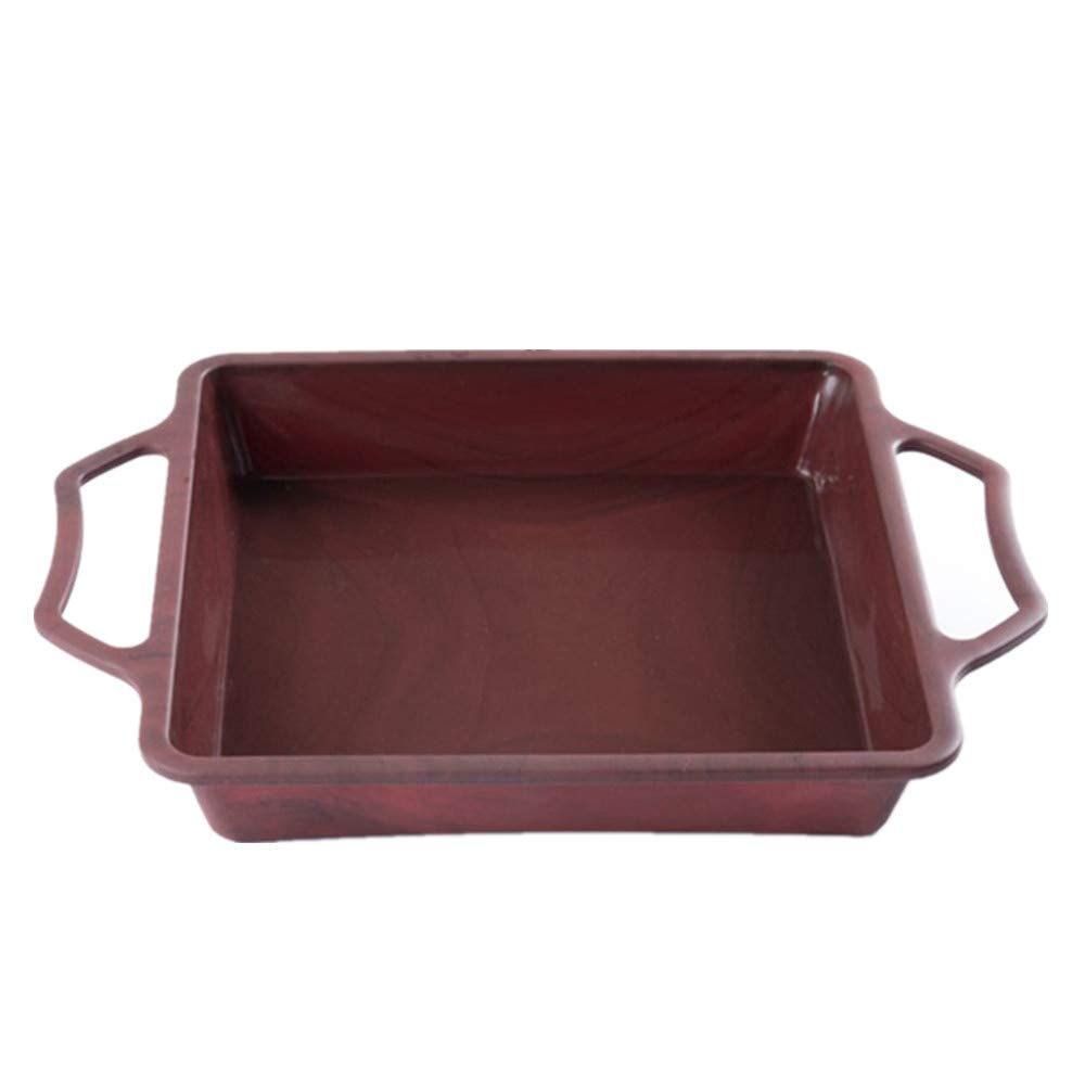 """Professional Nonstick Bakeware, Square Cake Brownie Pan with Handles, Steel Frame to Anti-deformed, Food-grade Silicone, Heat Resistant (446℉), Dishwasher Safe, 8.66"""" x 1.57"""""""