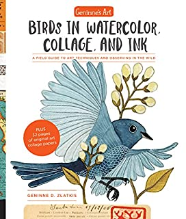 Book Cover: Geninne's Art: Birds in Watercolor, Collage, and Ink: A field guide to art techniques and observing in the wild