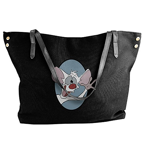 [Pinky And The Brain Pinky Women's Shoulder Bags Casual Handbag Travel Bag Messenger Canvas Bags] (Pinky Brain Costume)