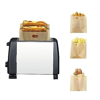 kati-way Toaster Bag bolsa Panificadora Toast bolsita tortillas en tostadora hornos microondas 5 pcs