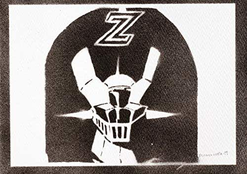 Poster Robot Mazinger Z Grafiti Hecho a Mano - Handmade Street Art - Artwork