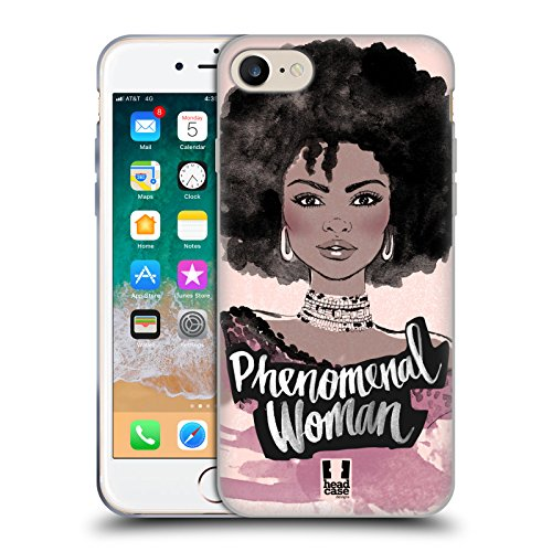 Head Case Designs Phenomenal Woman African Feminism Soft Gel Case for iPhone 7 / iPhone 8