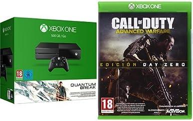 Microsoft Xbox One - Pack Xbox One 500 GB + Quantum Break + Advanced Warfare - Edición Day Zero: Amazon.es: Videojuegos