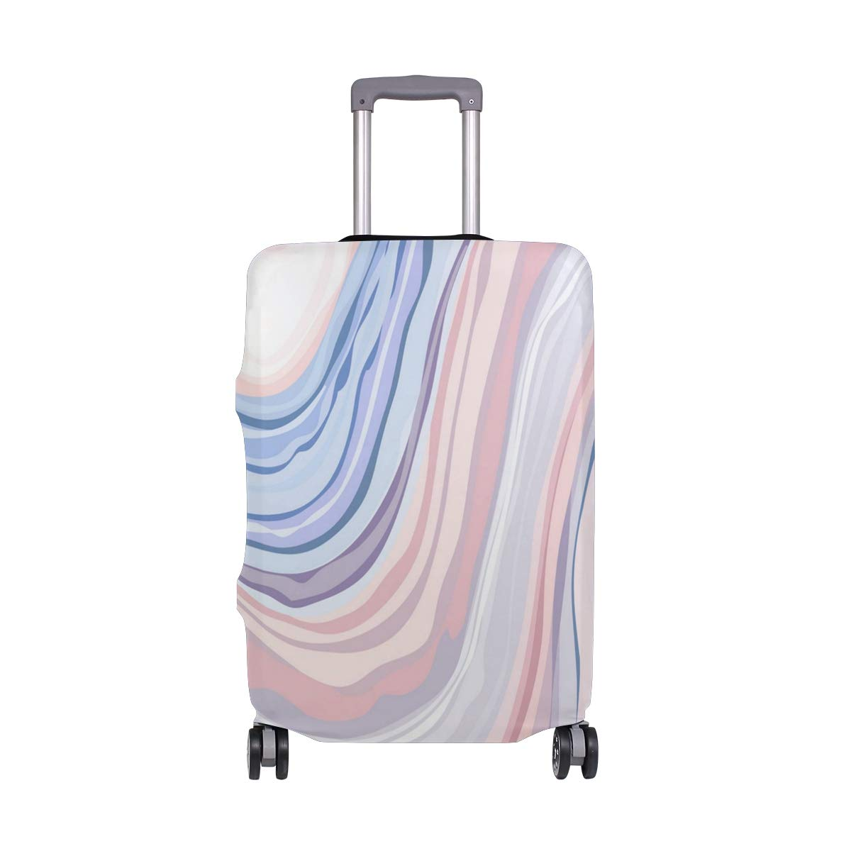 Multicolored Marble Pattern Traveler Lightweight Rotating Luggage Cover Can Carry With You Can Expand Travel Bag Trolley Rolling Luggage Cover