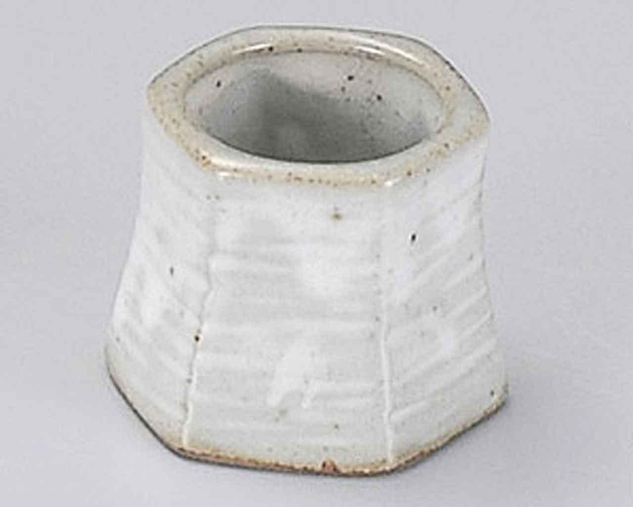 Kobiki Seiji 2inch Set of 5 Toothpick holders Grey Ceramic Made in Japan by Watou.asia