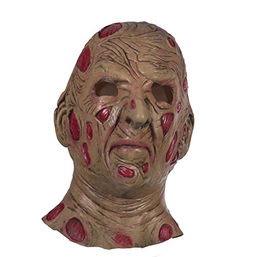 The Mask Biz Scary Freddy Krueger Monster Face Doll Murderer Crazy Head Mask -