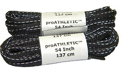 Scarpa Da Tennis Riflettente Ovale Proathletic (tm) Lacci Da Scarpe Runner, Tennis, Tutti Gli Sport - (confezione Da 2 Paia) Carbone Nero