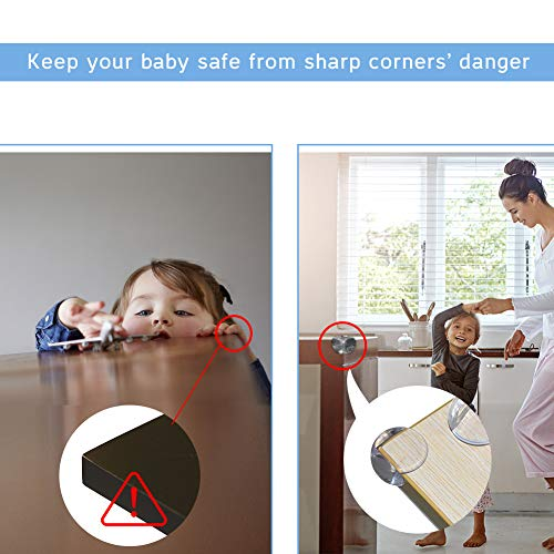 Corner Protector Baby Proofing Corner Guards - 8 Pack, Clear for Tables, Furniture, Sharp Corner, Baby Safety by Slicemall by Slicemall (Image #3)
