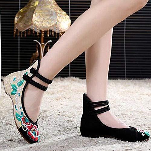 EU Negro ZHRUI Zapatos tamaño Color Negro 39 qPPRwgO4