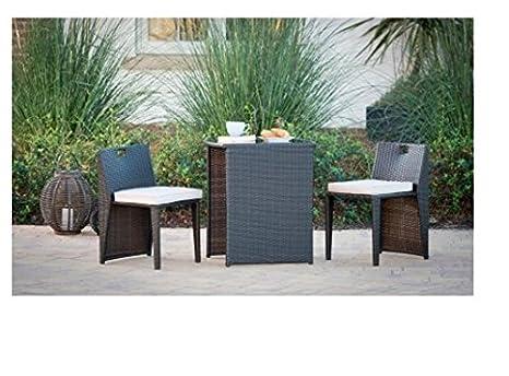 Mobili Da Esterno Per Piscina : 3 pezzi set di mobili da giardino in rattan compact bistro sedile