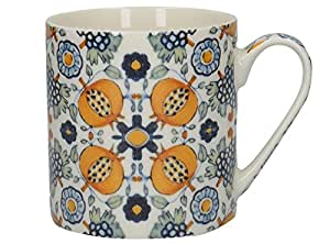 Creative Tops V&A Dutch Painted Tiles - Taza de porcelana, diseño de azulejos holandeses, multicolor