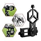 Astromania Universal Cell Phone Adapter Mount Support Binocular Monocular Spotting Scope Telescope and Microscope Optical Device - Black