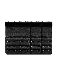 DWARM Bra Extender, Soft Bra Strap Extension 4 Hooks 3 Pack -43 inches