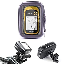 DURAGADGET Water-Resistant Cyclists Clear Capacitive Case & Handlebar Mount - Compatible with the Garmin Nuvi 200   2200T   30 WE   eTrex 30   eTrex 20 Satnavs