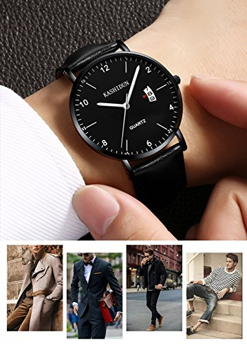 Mens-Watches-Analog-Quartz-Leather-Dress-Watch-Sport-Clock-For-Mens-Fashion-Casual-Wristwatch-Waterproof-Calendar-Date-ThinSlim-Dial