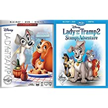 Disney Signature Movie Club Exclusive Collection - Lady & The Tramp (Signature Collection Edition) & Lady and the Tramp 2: Scamp's Adventure (Movie Club Exclusive) Blu-ray/DVD/Digital Combo Bundle