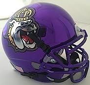 Schutt Sports NCAA James Madison Dukes Mini Authentic Football Helmet, Purple Chrome Alt. 1