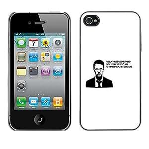 PC/Aluminum Funda Carcasa protectora para Apple Iphone 4 / 4S Buy Thing We Need Money Have Quote / JUSTGO PHONE PROTECTOR