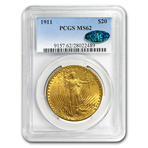 1911 $20 St. Gaudens Gold Double Eagle MS-62 PCGS (CAC) G$20 MS-62 PCGS