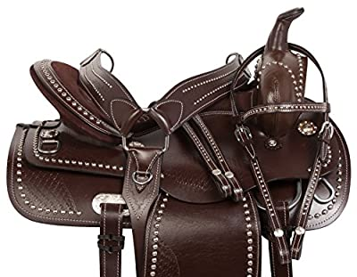 AceRugs 15 16 17 18 Comfy Flashy Trail Pleasure Barrel Horse Saddle & TACK by Acerugs