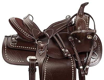 16 17 18 Comfy Flashy Trail Pleasure Barrel Horse Saddle & Tack
