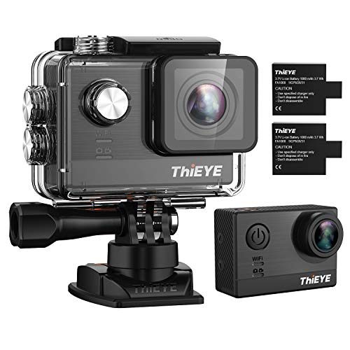 Sports Action Camera with Ambarella Processor & Sony Sensor,THiEYE T5e 4K 16MP Ultra HD Video Camcorder with EIS, 2