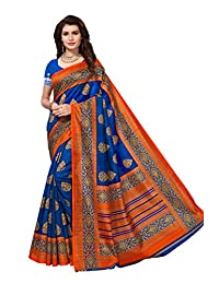 Shonaya Women`S Party Wear Blue Colour Bhagalpuri Silk Printed Saree