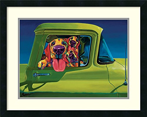 Framed Art Print, 'I Wanna Go!' by Ron Burns: Outer - doggy canvas art