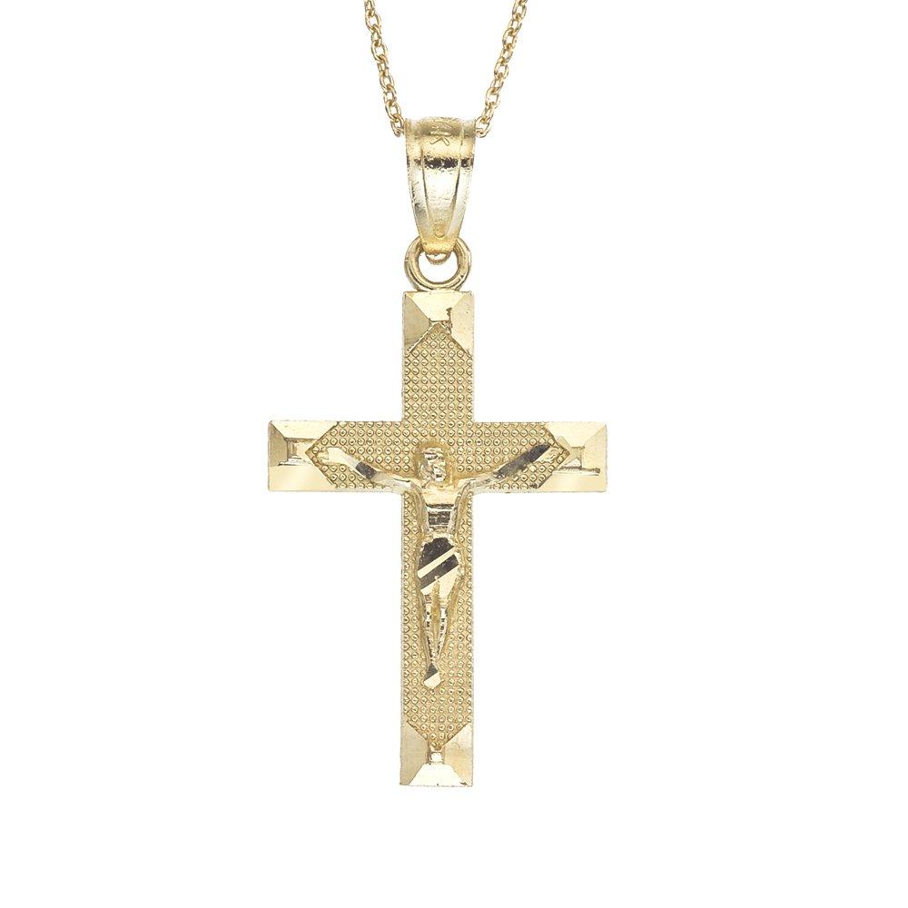 14k Gold Crucifix Children's Necklace 15''