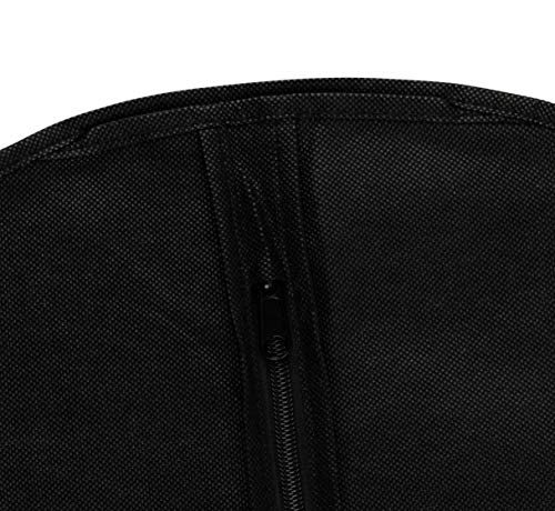 f21d2c363a18 40 Inch Garment Bags Travel Storage Black Non Woven Fabric Clothes Cover 5  Count