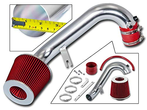 Rtunes Racing Short Ram Air Intake Kit + Filter Combo RED For 01-05 Honda Civic 1.7L (2002 Honda Civic Air Intake)