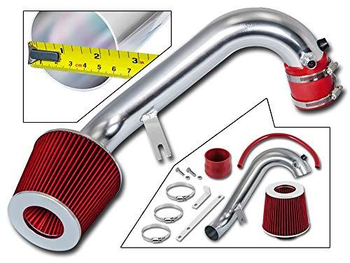 Rtunes Racing Short Ram Air Intake Kit + Filter Combo RED For 01-05 Honda Civic 1.7L