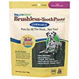 Ark Naturals Breath-less Brushless Toothpaste, Dental Chews for Large Dogs, Plaque, Tartar, and Bacteria Control, Chewable, Easy Digestion, Mess Free, Natural Ingredients, 18 oz. Bag