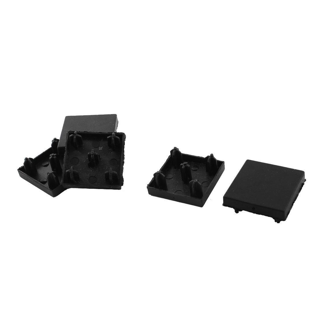 30mm x 30mm T-ranurado de aluminio de extrusi/ón Perfil Negro tapa del extremo 5pcs